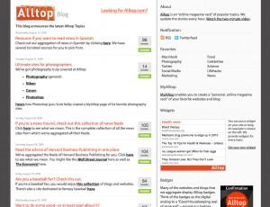 New Alltop blog design